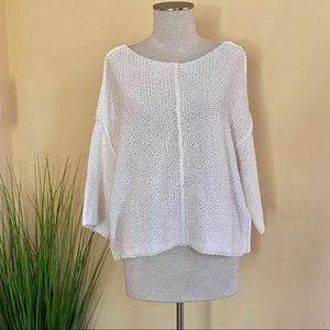 AERIE *NWT* Women's White Loose-Fit Knit Sweater